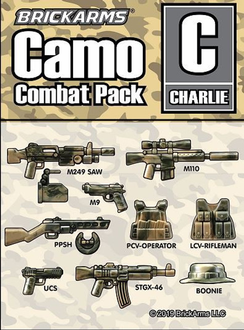 BrickArms Camo Combat Pack C 2.5-Inch Weapons Pack [Charlie]