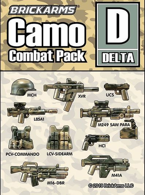 BrickArms Camo Combat Pack D 2.5-Inch Weapons Pack [Delta]