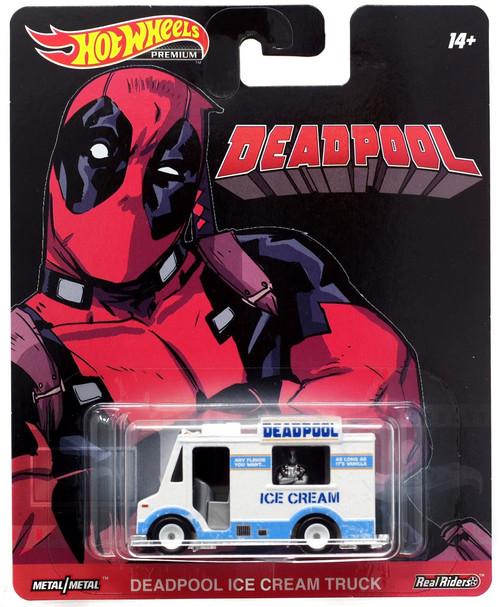 Marvel Hot Wheels Premium Deadpool Ice Cream Truck Die Cast Car