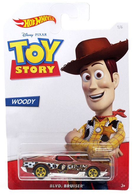 Toy Story Hot Wheels Blvd. Bruiser Diecast Car #1/6 [Woody]