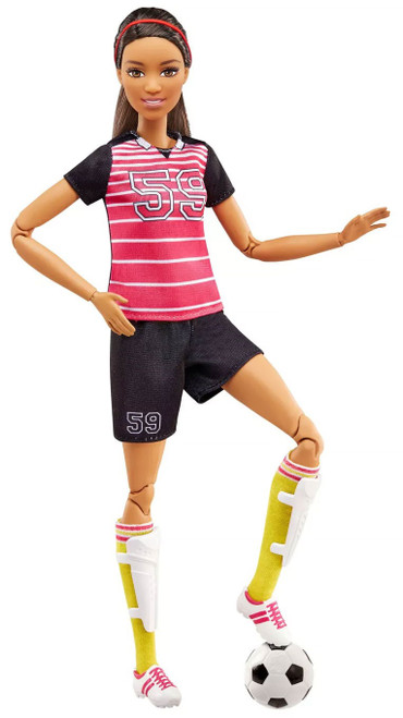 Made to Move You Can Be Anything Barbie 13.25-Inch Doll [Soccer Player, Brunette]