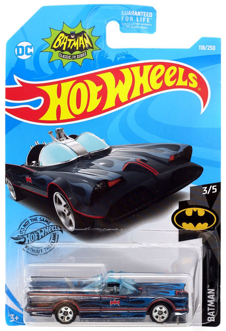 Hot Wheels Batman Classic TV Series Batmobile Die-Cast Car [Blue Flames]