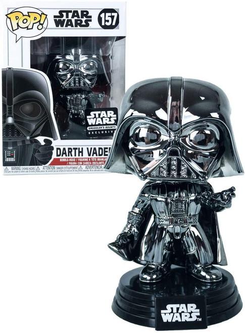 Funko POP! Star Wars Darth Vader Exclusive Vinyl Bobble Head #157 [Chrome, Force Choke]