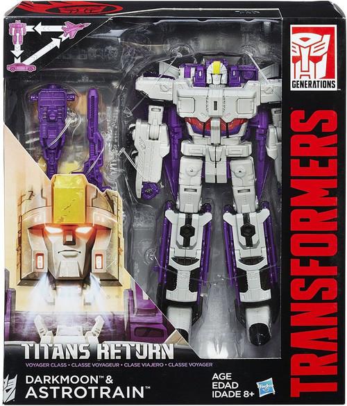 Transformers Generations Titans Return Darkmoon & Astrotrain Voyager Action Figure [Damaged Package]