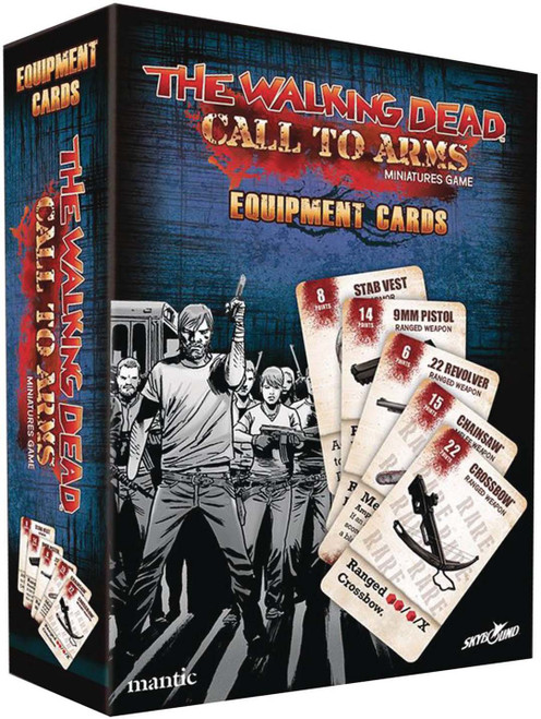 The Walking Dead Walking Dead Call to Arms Miniature Game Equipment Cards