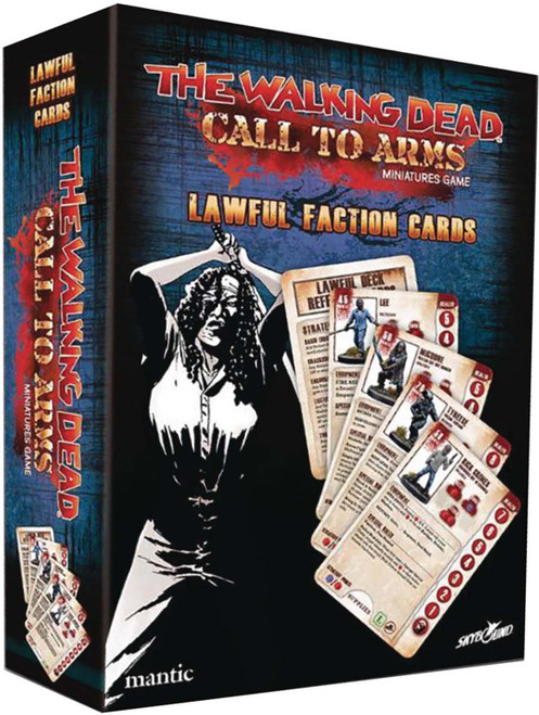 The Walking Dead Walking Dead Call to Arms Miniature Game Lawful Factions Cards