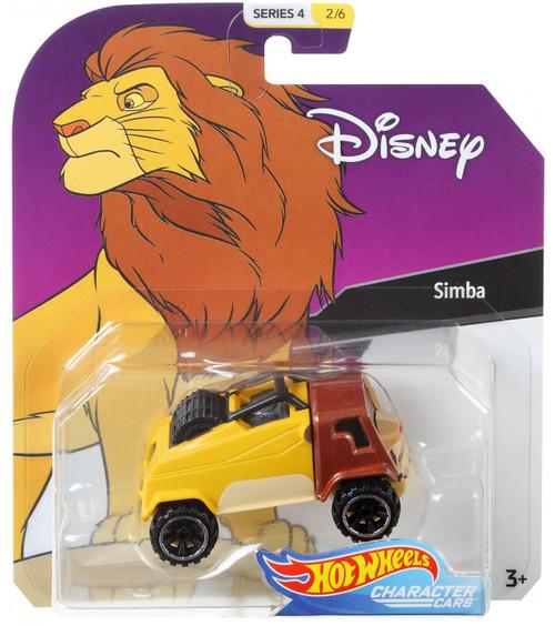 Disney Hot Wheels Character Cars Series 4 Simba Die Cast Car #2/6