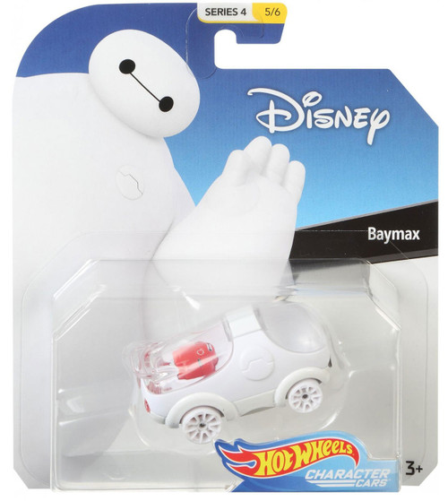 Disney Hot Wheels Character Cars Series 4 Baymax Die Cast Car #5/6