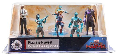 Disney Captain Marvel Exclusive 6-Piece PVC Figure Play Set [Damaged Package]