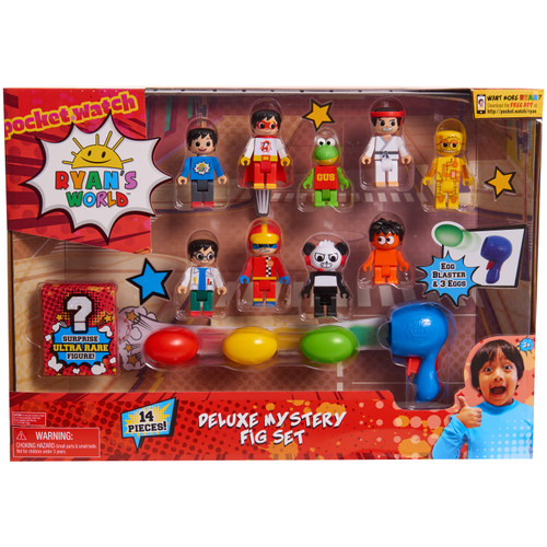 Ryan's World Deluxe Mystery Fig Set 14-Piece Figure