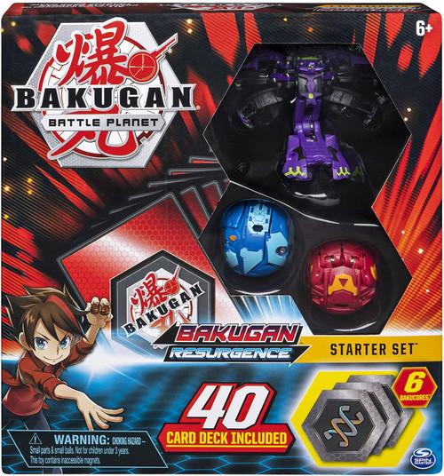 Bakugan Battle Planet Resurgence Darkus Hydranoid Starter Set