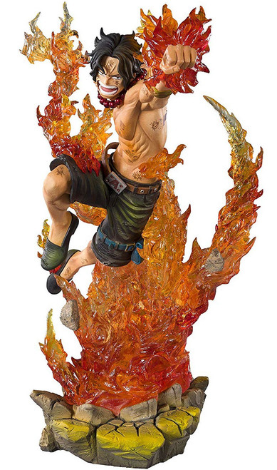 One Piece Figuarts ZERO Portgas D Ace 7.7-Inch Statue [Commander of the Whitebeard 2nd Division]
