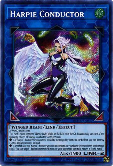 YuGiOh Battles of Legend: Hero's Revenge Secret Rare Harpie Conductor BLHR-EN047