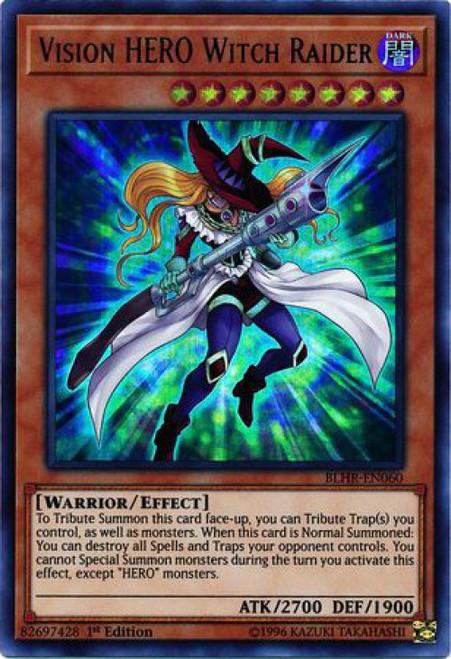 YuGiOh Battles of Legend: Hero's Revenge Ultra Rare Vision HERO Witch Raider BLHR-EN060