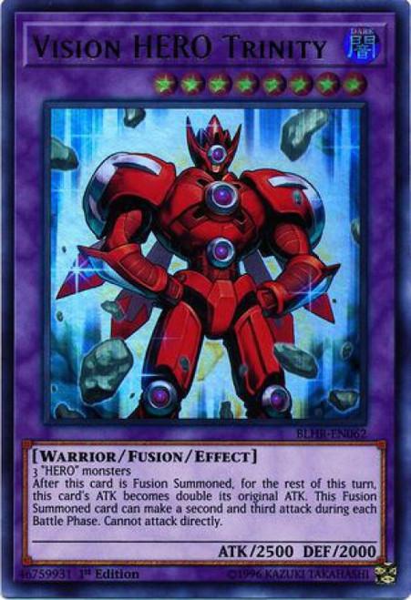 YuGiOh Battles of Legend: Hero's Revenge Ultra Rare Vision HERO Trinity BLHR-EN062
