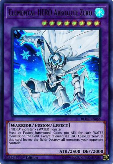 YuGiOh Battles of Legend: Hero's Revenge Ultra Rare Elemental HERO Absolute Zero BLHR-EN065