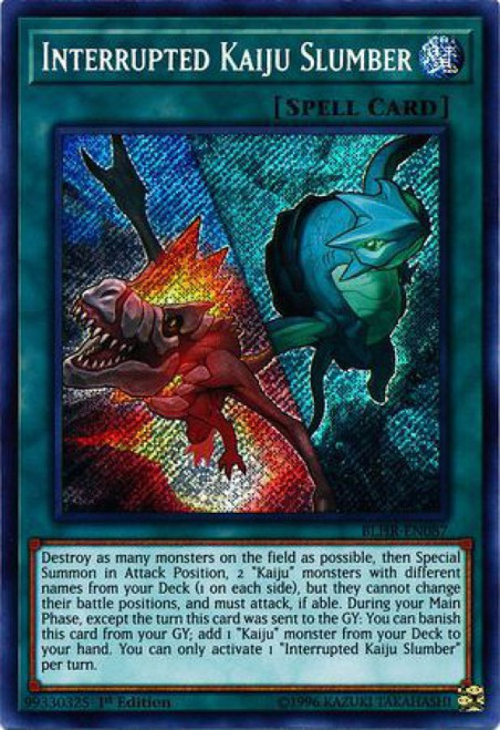 YuGiOh Battles of Legend: Hero's Revenge Secret Rare Interrupted Kaiju Slumber BLHR-EN087