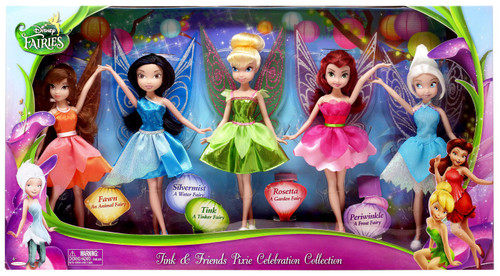 Disney Fairies Tink & Friends Pixie Celebration Collection 9-Inch Doll 5-Pack