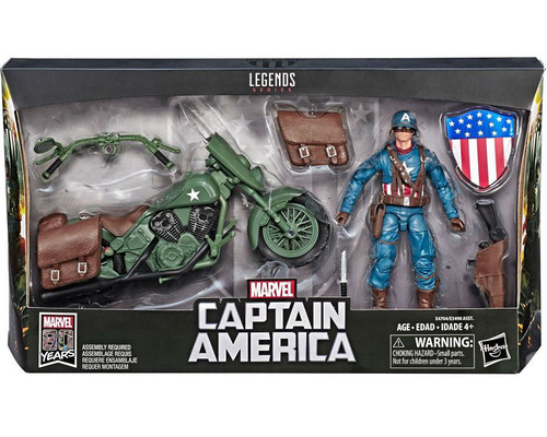 Marvel Legends Ultimate Vintage Captain America Vehicle Action Figure (Pre-Order ships January)