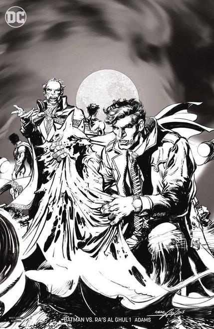 DC Batman Vs Ras Al Ghul #1 of 6 Comic Book [B&W Variant Cover]