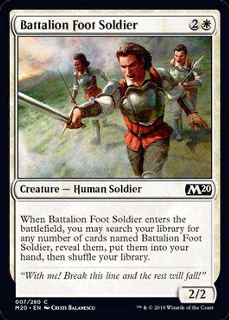 MtG 2020 Core Set Common Battalion Foot Soldier #7