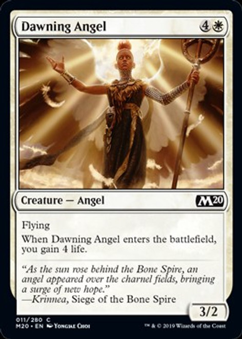 MtG 2020 Core Set Common Dawning Angel #11