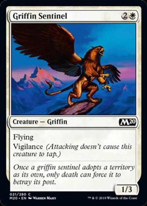 MtG 2020 Core Set Common Griffin Sentinel #21