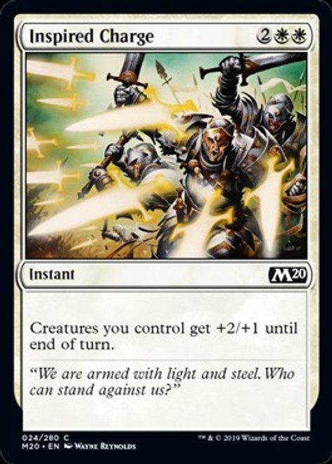 MtG 2020 Core Set Common Inspired Charge #24