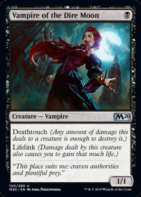 MtG 2020 Core Set Uncommon Vampire of the Dire Moon #120