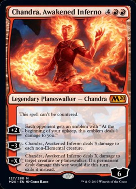 MtG 2020 Core Set Mythic Rare Chandra, Awakened Inferno #127