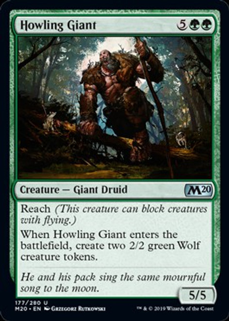 MtG 2020 Core Set Uncommon Howling Giant #177