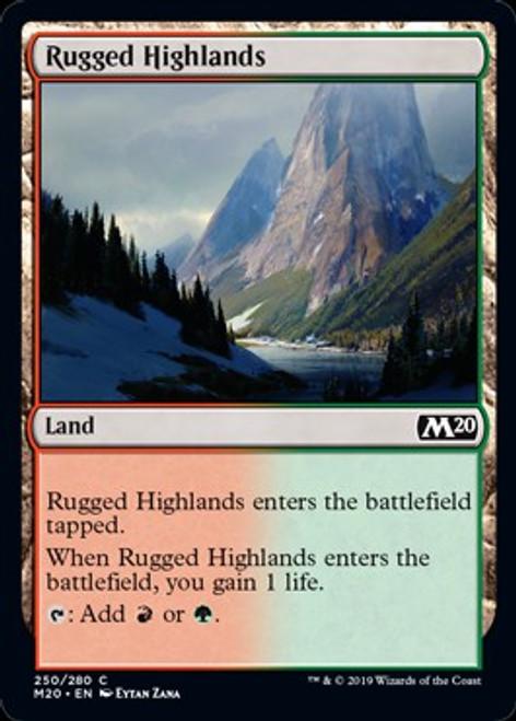 MtG 2020 Core Set Common Rugged Highlands #250
