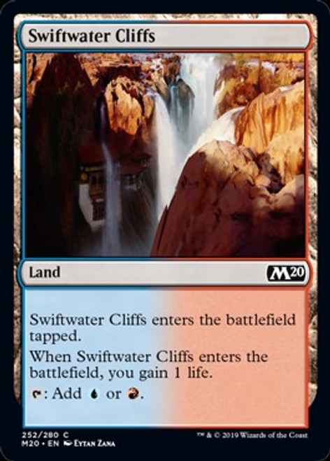 x4 Swiftwater Cliffs IKO MTG Ikoria 255//274 LAND M//NM 4x