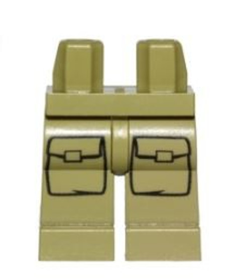 LEGO Olive Green with Pockets Legs [Loose]