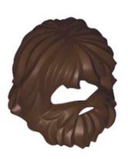 LEGO Dark Brown Scraggly Beard & Hair (Castaway) [Loose]