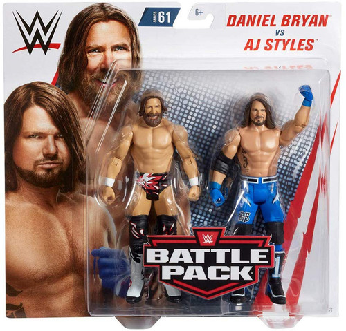 WWE Wrestling Battle Pack Series 61 AJ Styles & Daniel Bryan Action Figure 2-Pack
