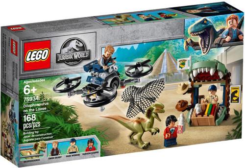 LEGO Jurassic World Dilophosaurus on the Loose Set #75934