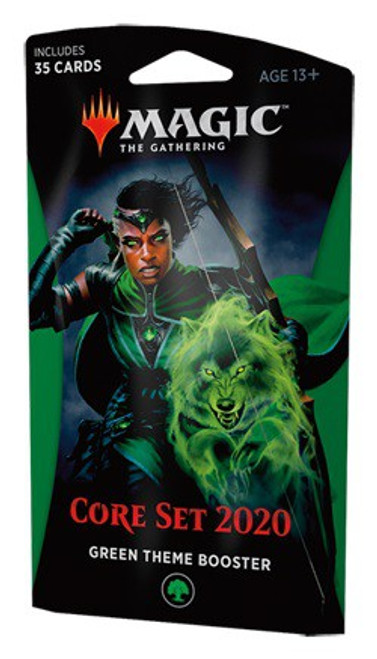 MtG Trading Card Game 2020 Core Set Theme Booster [Green]