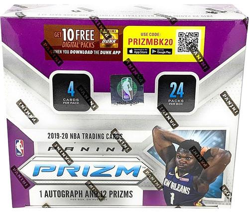 NBA Panini 2019-20 Prizm Basketball Trading Card RETAIL Box [24 Packs, 1 Autograph & 12 Prizms]