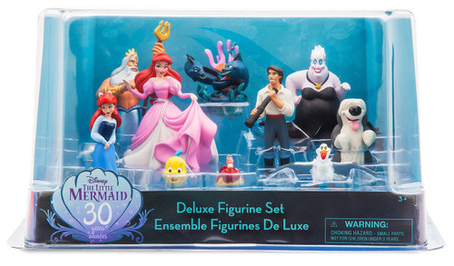 Disney 30th Anniversary The Little Mermaid Exclusive 10-Piece PVC Figure Set