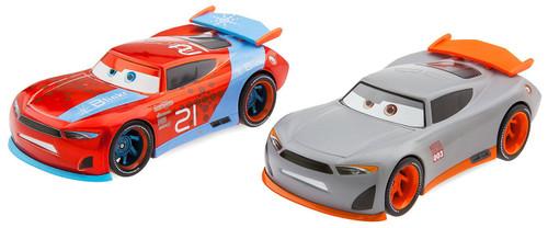 """Disney / Pixar Cars Cars 3 Pullback Die Cast Ryan """"Inside"""" Laney & Rookie #003 Exclusive Vehicle 2-Pack"""