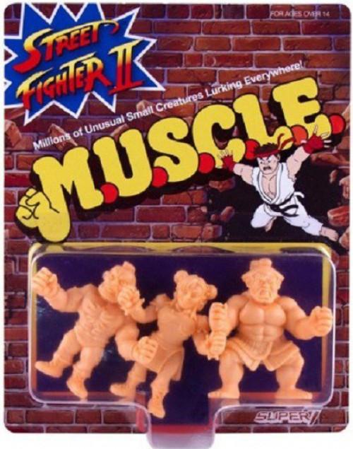 M.U.S.C.L.E. Street Fighter II Chun-Li, Zangief, & E. Honda 1.75-Inch Flexible Figure 3-Pack (Pre-Order ships )