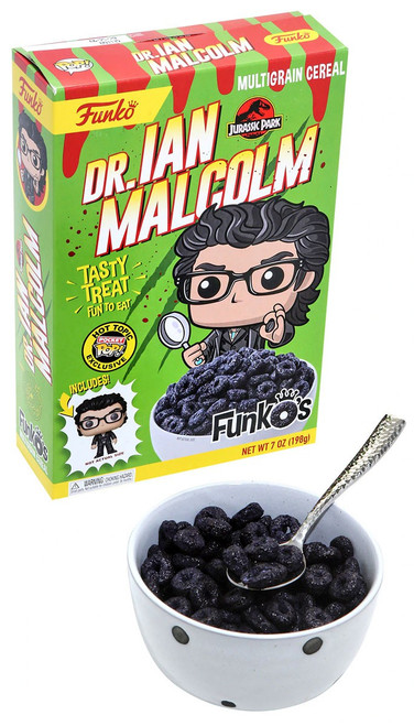 FunkO's Jurassic Park Dr. Ian Malcolm Exclusive 7 Oz. Breakfast Cereal