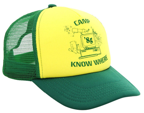 Stranger Things Camp Know Where Trucker Hat