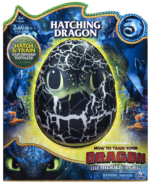How to Train Your Dragon The Hidden World Hatching Dragon Toothless Figure [Hatch & Train]