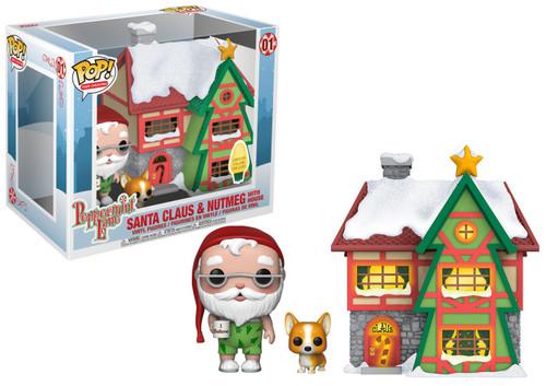 Funko Holiday POP! Town Santa Claus & Nutmeg with House Vinyl Figure Set #01
