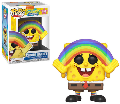 Funko Spongebob Squarepants POP! Animation Spongebob Vinyl Figure [Rainbow, Damaged Package]
