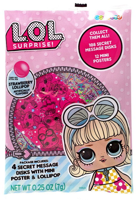 LOL Surprise Secret Disks [4 Secret Disks with Mini Poster & Lollipop]