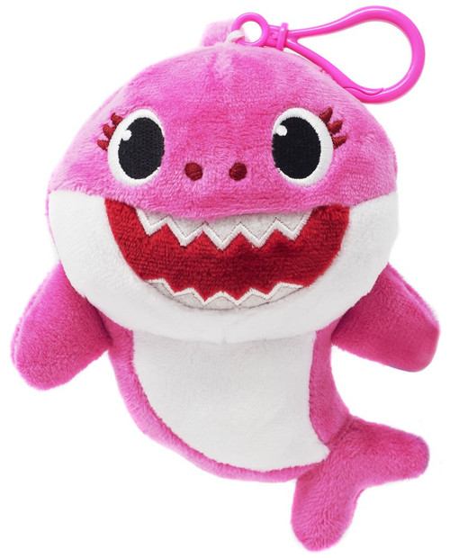 Pinkfong Baby Shark Mommy Shark 5.5-Inch Plush Clip On [Pink]