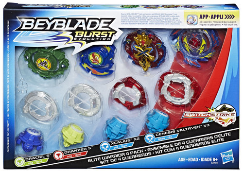 Beyblade Burst Evolution Switchstrike Elite Warrior Exclusive 4-Pack